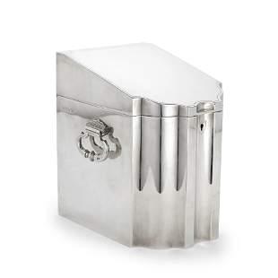 DUNHILL: a rare silver humidor
