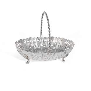 A Victorian silver basket
