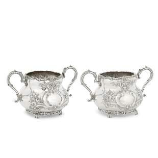 Two matching Victorian sugar bowls