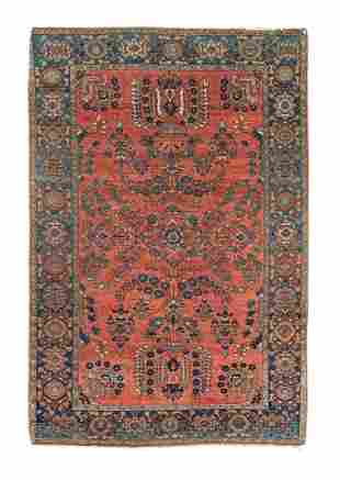 A CHARMING RUG WITH FLORAL MOTIFS