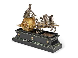 A LATE 19TH CENTURY FRENCH BRONZE AND MARBLE MANTEL