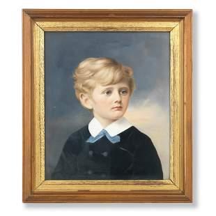 A LATE 19TH CENTURY GERMAN PORCELAIN PORTRAIT PLAQUE