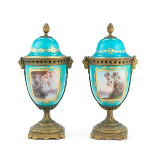 A PAIR OF LATE 19TH CENTURY FRENCH GILT BRONZE MOUNTED