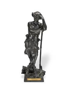 EUGèNE MARIOTON (FRENCH, 1854 - 1925): A PATINATED