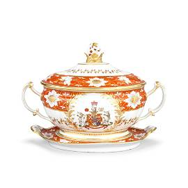 The Chamberlain Worcester Soup Tureen, Cover And Stand
