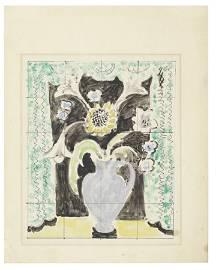 Vanessa Bell (British, 1879-1961) Tile Design for Kings