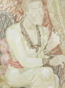 Jessica Dismorr (British, 1885-1939) Mrs Ody 62.2 x 47