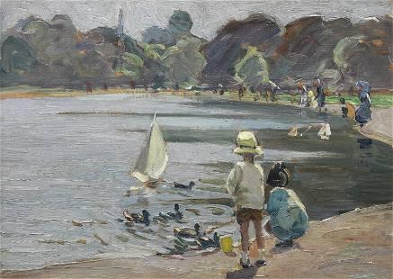 Dorothea Sharp, RBA, ROI (British, 1874-1955) The Round
