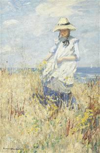 Dorothea Sharp, RBA, ROI (British, 1874-1955) Picking