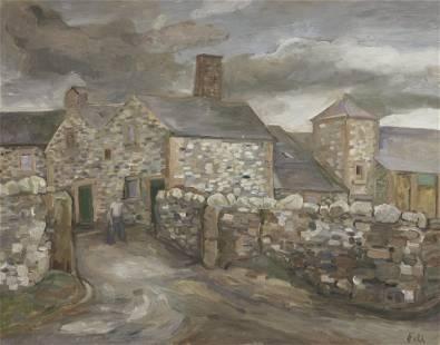 Sheila Fell R.A. (British, 1931-1979) Mechi Farm,