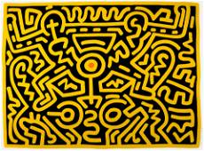 Keith Haring (1958-1990); Plate V, from Growing Suite