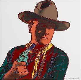 Andy Warhol (1928-1987); John Wayne, from Cowboys