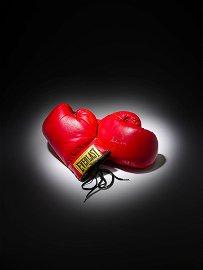 MUHAMMAD ALI/FIGHT-WORN GLOVES