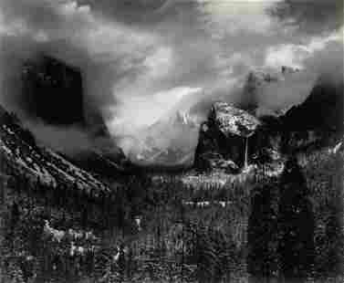 Ansel Adams (1902-1984); (Clearing) Winter Storm,