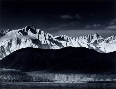 Ansel Adams (1902-1984); Winter Sunrise, Sierra Nevada