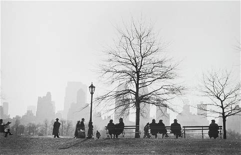 Ruth Orkin (1921-1985); Central Park Silhouette;