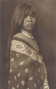 Edward S. Curtis (1868-1952); Yuma Girl;