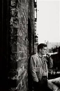 Allen Ginsberg (1926-1997); Jack Kerouac on Fire Escape;