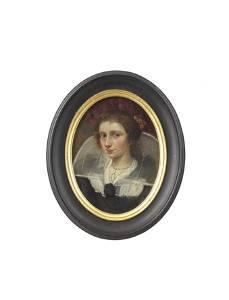 Antwerp School, 17th Century Portrait of a lady,
