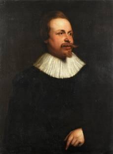 Flemish School, 17th Century Portrait of a gentleman,