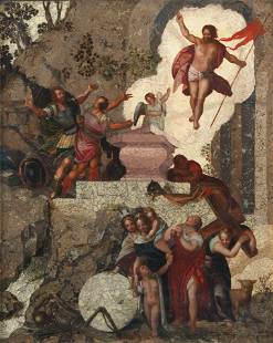 North Italian School, early 17th Century The Ascension