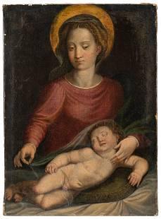 North Italian School, early 17th Century The Madonna