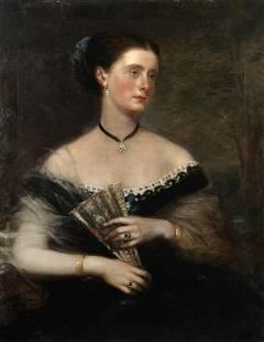 Richard Buckner (British, 1812-1883) Portrait of a lady