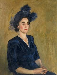 Henry Marvell Carr (British, 1894-1970) Portrait of a
