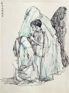 Ismail Gulgee (Pakistani, 1926-2007) Untitled (Four