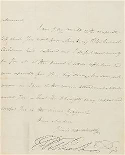 WILLIAM IV & NELSON Letter signed ('William R'),