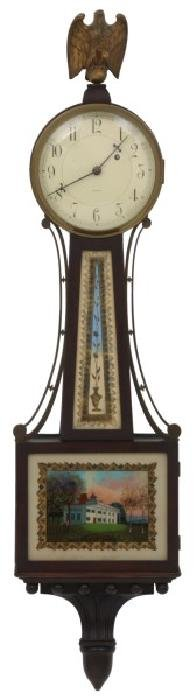 Waltham Weight Driven Presentation Banjo Clock