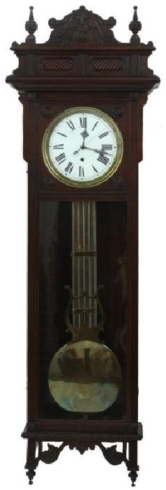 Oak Waterbury No. 60 Hanging Regulator