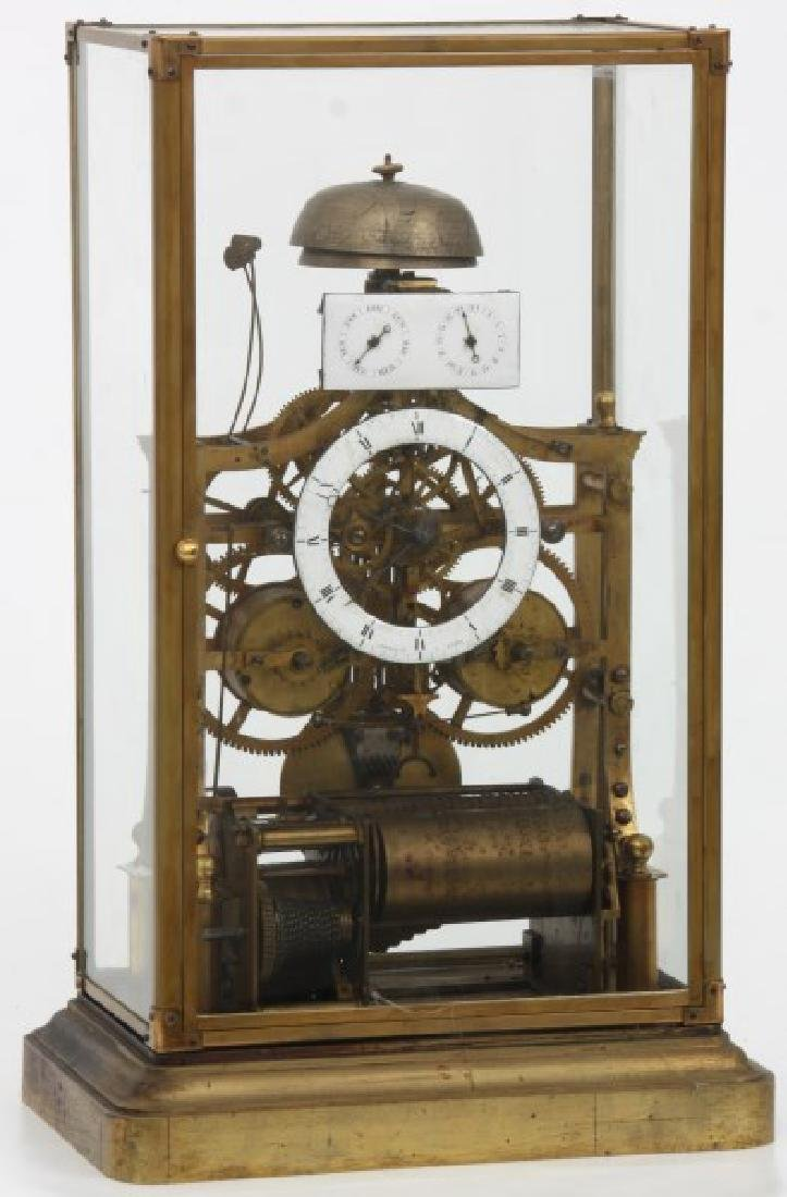Rare French Musical Calendar Skeleton Clock