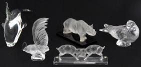 5 Pcs. Crystal Animal Figures