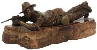 Carl Kauba Bronze Sculpture – Marksman