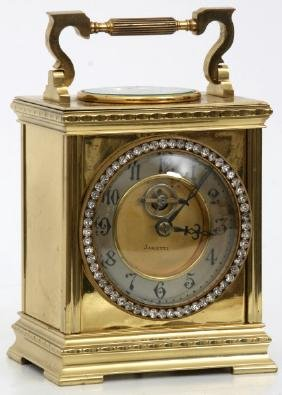 French Brass Carriage Clock & Thermometer