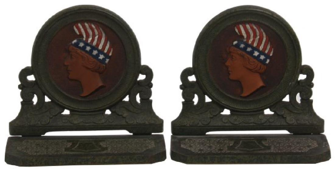 H.L. Judd Co. Cast Iron Bookends