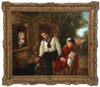 19th C European OC Genre Scene Painting