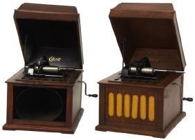 2 Edison Amberola M50 Phonographs
