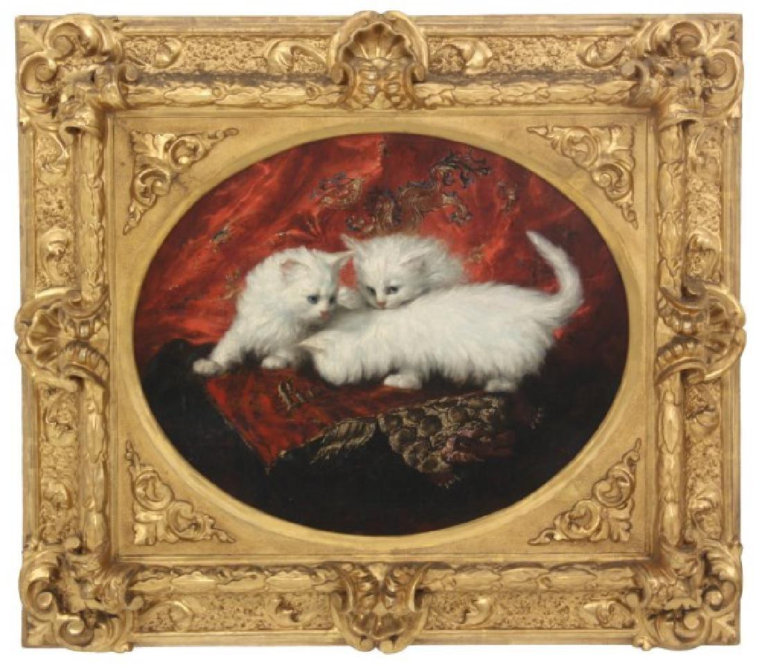 Carl Kahler O/C Portrait of Cats