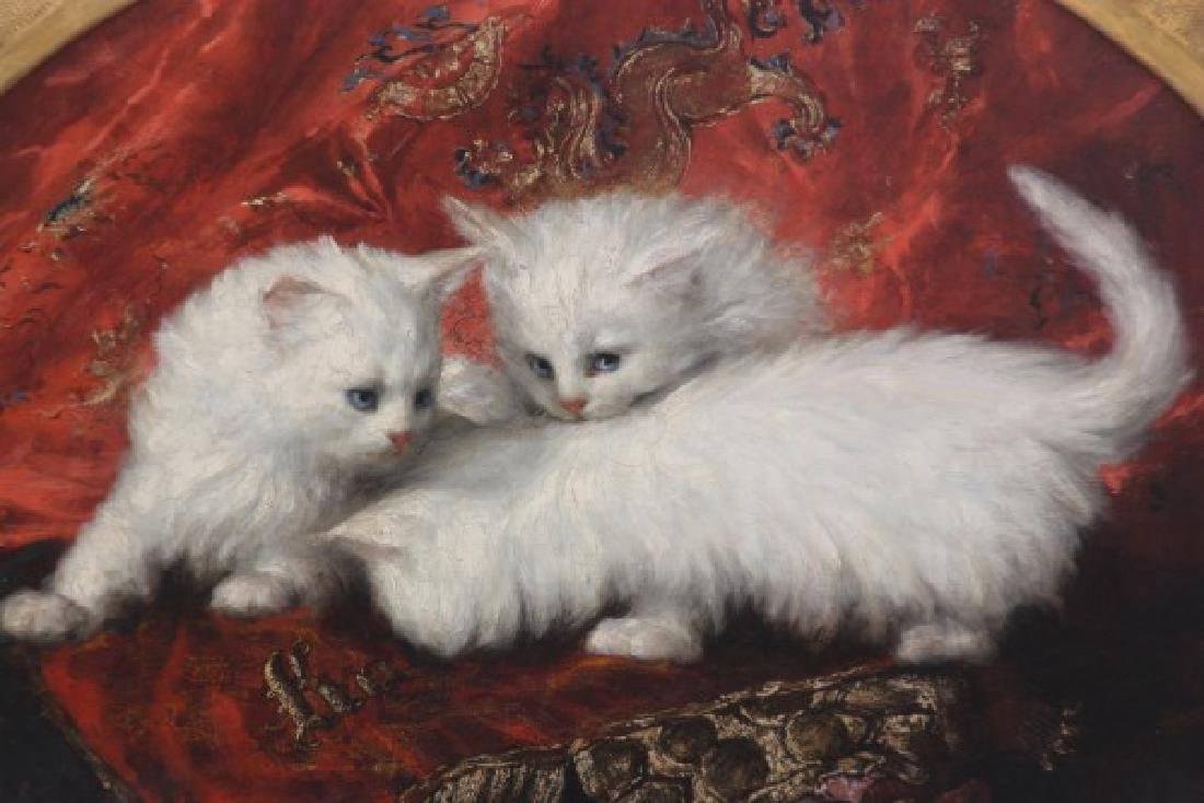Carl Kahler O/C Portrait of Cats - 2