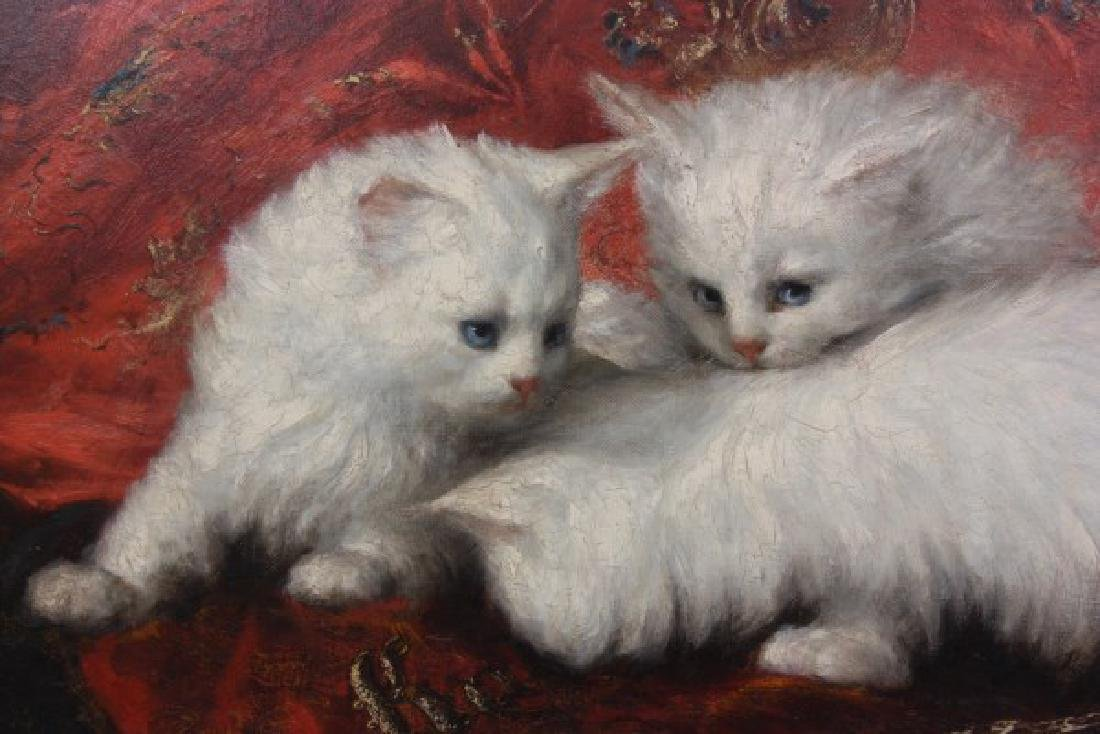Carl Kahler O/C Portrait of Cats - 5