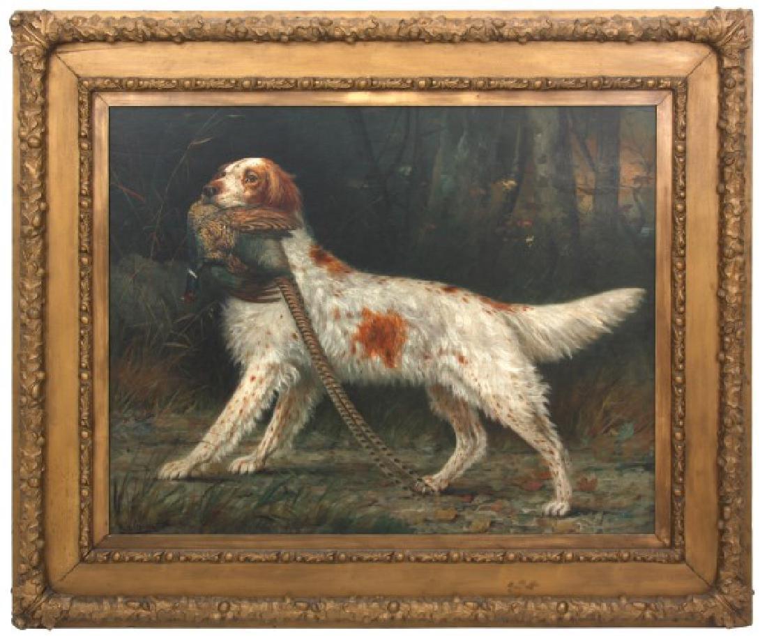 H.H. Cross O/C Hunting Dog Portrait