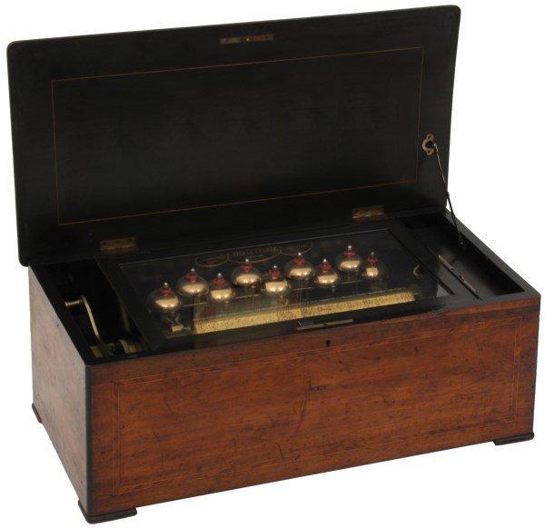 Nicole Freres 9 Bell Inlaid Music Box