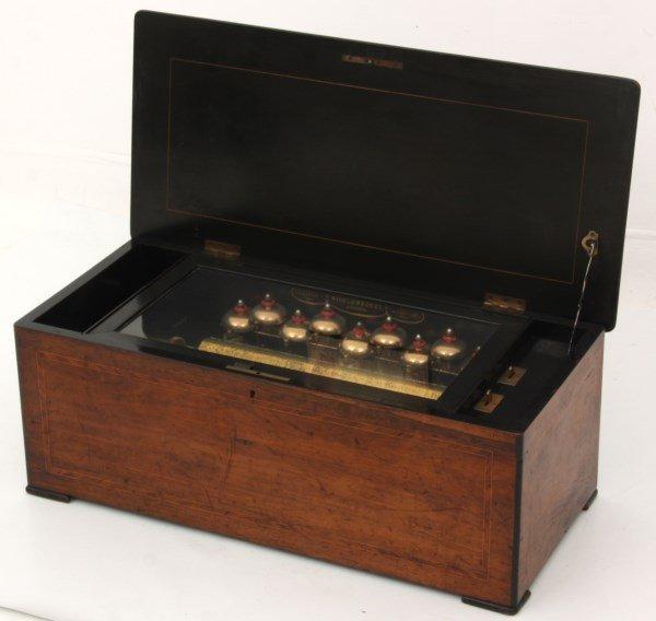 Nicole Freres 9 Bell Inlaid Music Box - 2