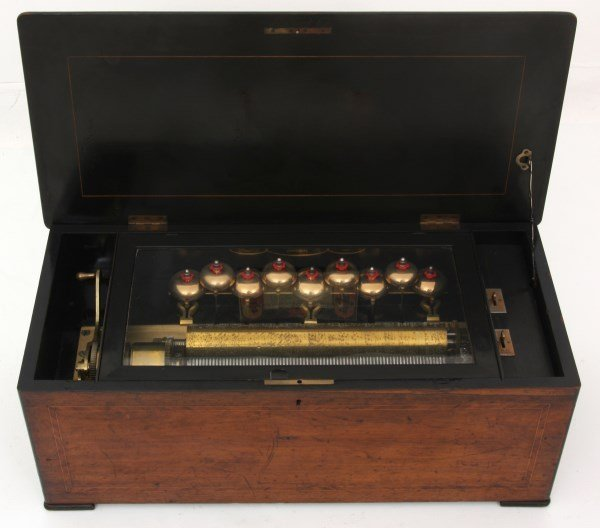 Nicole Freres 9 Bell Inlaid Music Box - 3