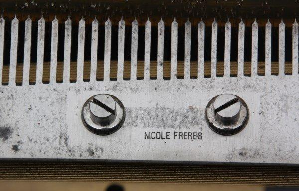 Nicole Freres 9 Bell Inlaid Music Box - 6