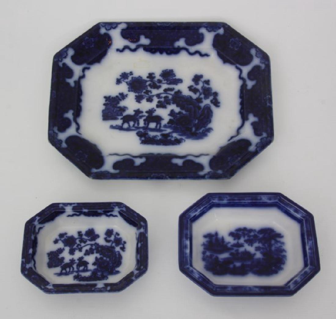 23 Pcs. Flow Blue – Tonquin & Cashmere - 3