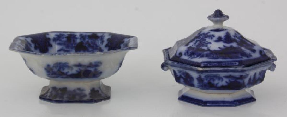 23 Pcs. Flow Blue – Tonquin & Cashmere - 4