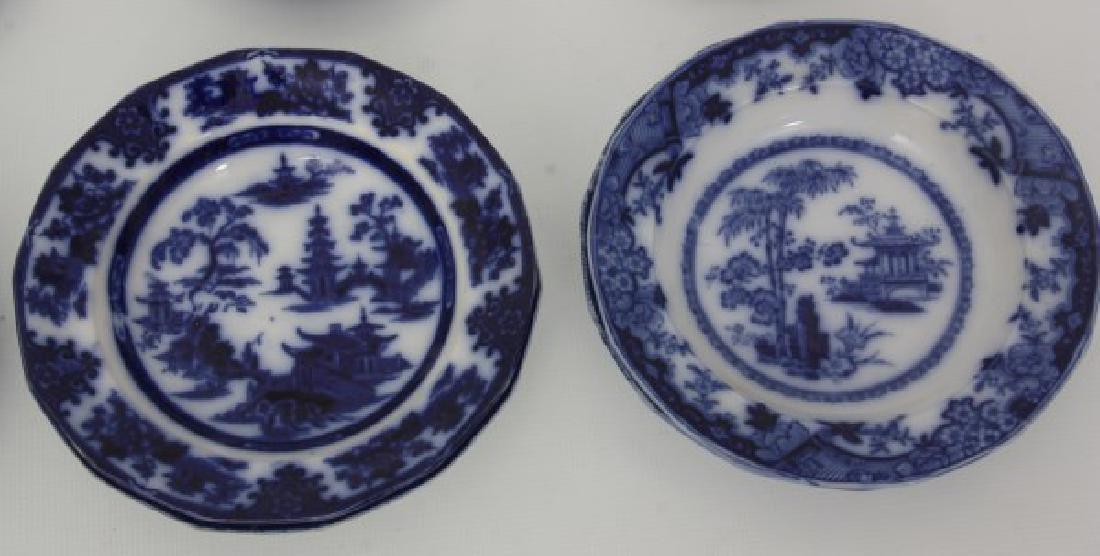 23 Pcs. Flow Blue – Tonquin & Cashmere - 6